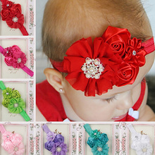 Hair Accessories Headbands Baby Roses Headwear  Chiffon Newborn Baby Hair Band Infant Boys Girls Headwear