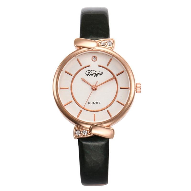 Womens Watches Top Brand Fashion Leather Band Analog Quartz Round Wrist Watch Ladies Dress Watches KadN Kol Saati Uhren Damen