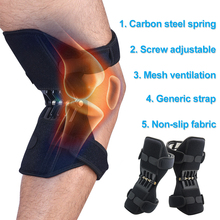 Breathable Non-slip Lift Knee Pads Powerful Rebound Spring Force Knee Booster Joint Support Knee Pads 1 pair joint support knee pads breathable non slip power joint support knee pads powerful rebound spring force knee booster