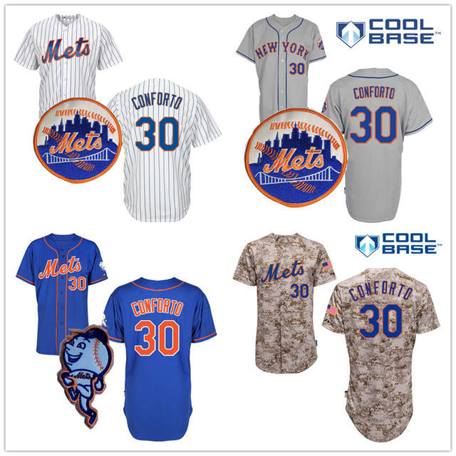free shipping 315b4 8f5aa Michael Conforto Jersey New York Mets Home Away White ...