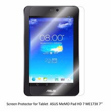 Clear LCD PET Movie Anti-Scratch/ Anti-Bubble / Contact Responsive Display Protector for Pill ASUS MeMO Pad HD 7 ME173X 7