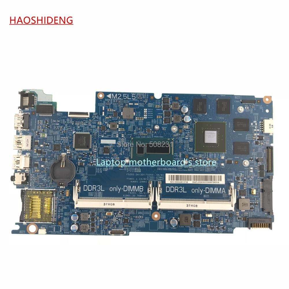 HAOSHIDENG CN-0M1FGY 0M1FGY mainboard For Dell Inspiron 7537 15 7537 motherboard With CPU I5-4200U GT750M GPU,fully Tested