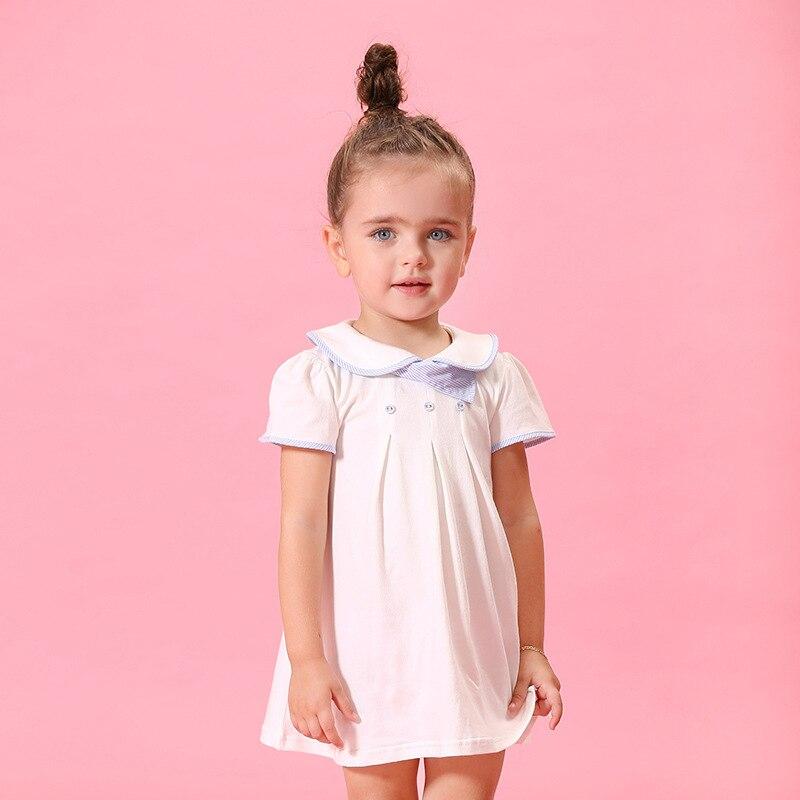 0-5 Y Arrival New Summer Girl Dress white Baby Girl Dress Children Clothing Children Dress