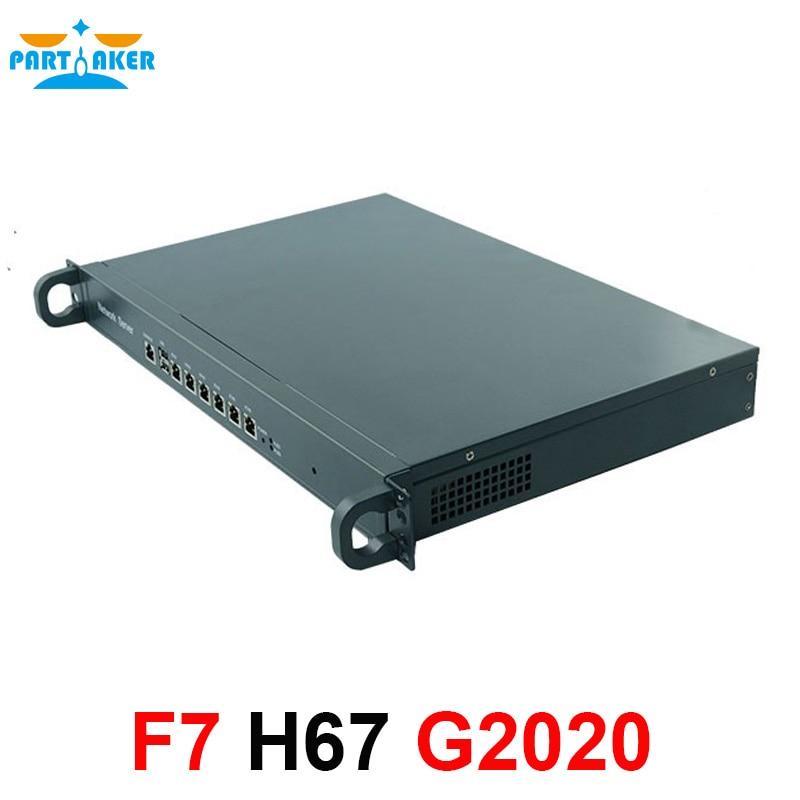 Intel 1U Network Server OEM Hardware Appliance H67SL G2020 6Nic Network Server Applaince With 1U Rack Chassis