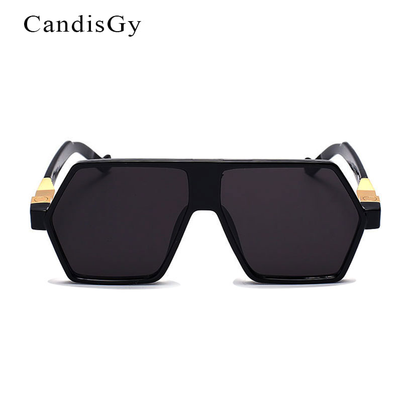 e1231aff436d Hip Hop Flat Top 2016 Men Women Fashion Mirror Sunglasses Hippie ...