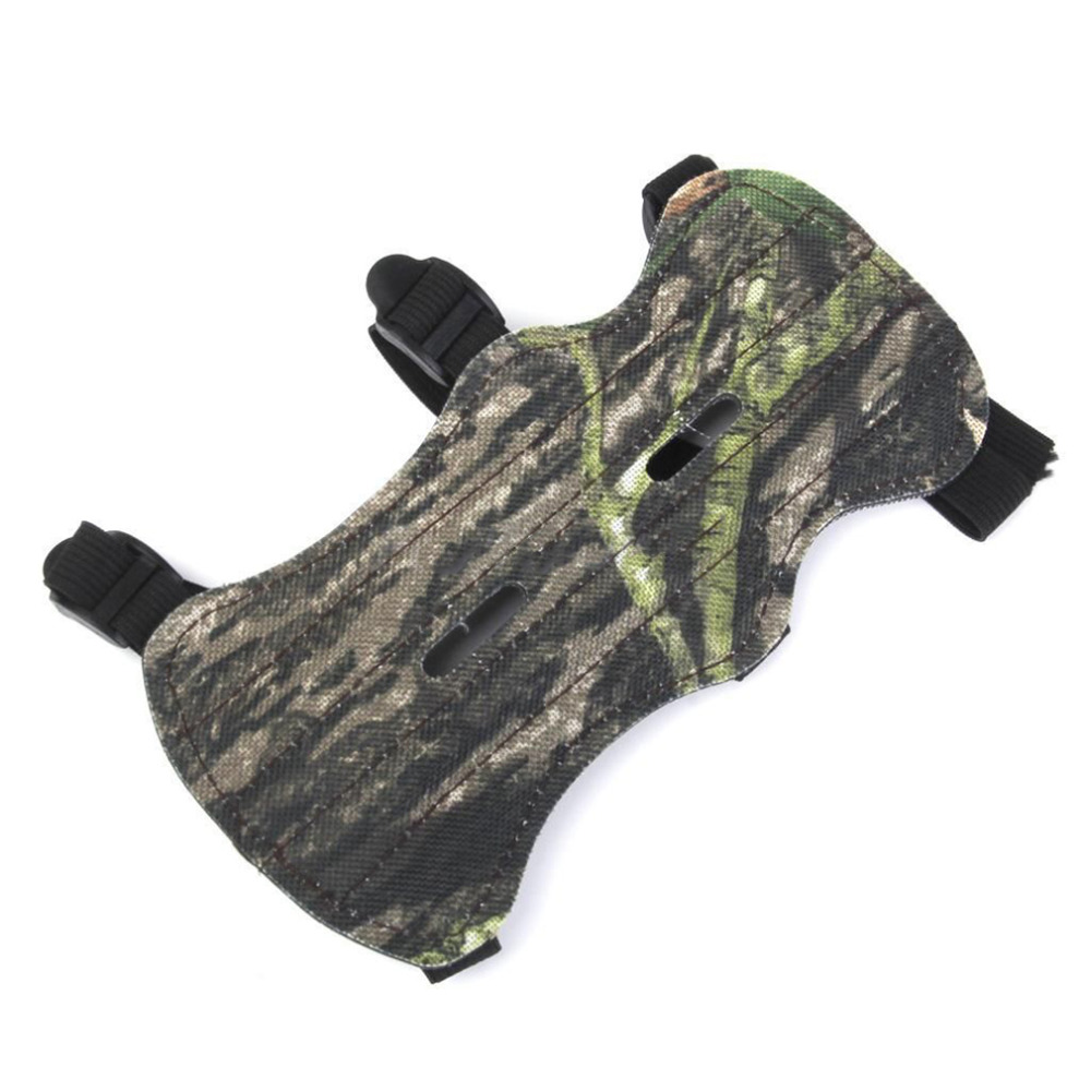 Camo Archery Bow Arm Guard Protective Forearm Safe Gear 3 Straps Armguard Bow Protection On Sale