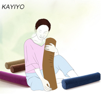 KAYIYO Round Memory Foam Pillow Slow Rebound Cylindrical Nursing Cervical Round Candy Pillow Neck Pillow Home Decoration