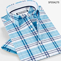 SmartFive Men 2016 Men's Clothing Patterns Plaid Short Sleeve Shirt Cotton Fashion Casual Shirt Slim Fit Camisa Masculina 5XL