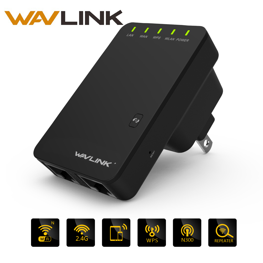 Original Wavlink 300mbps Wireless Wifi Extender/Repeater 2.4G Network Antenna 802.11n/b/g Signal Booster 3dBi WiFi Repetidor AP