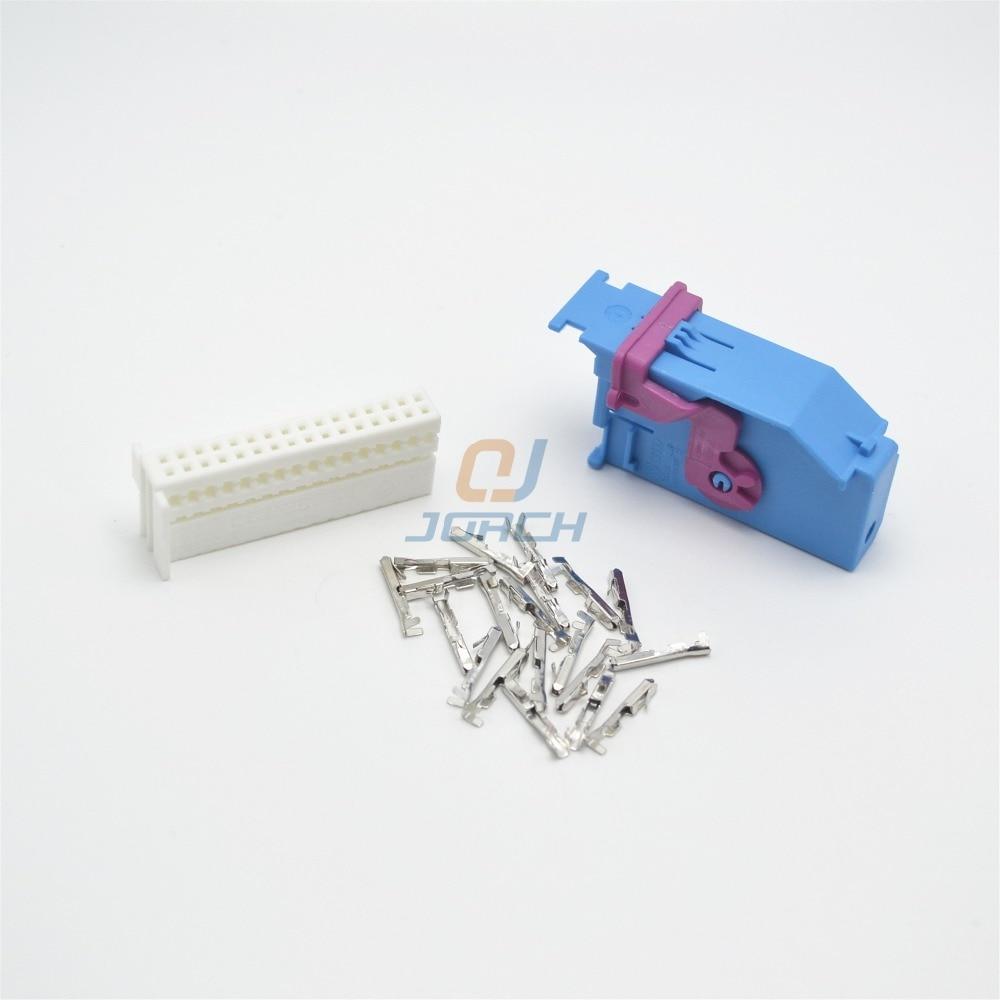 5 Kits Sets 32 Pin Way VW AUDI AMP Auto Connector Housing Plastic Plug 1J0972977