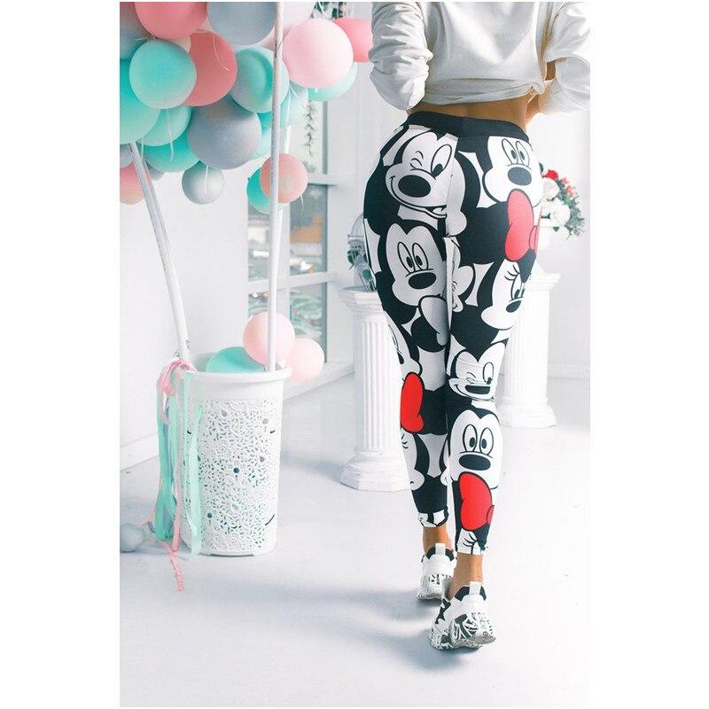 Women Minnie Mickey Sexy Gym Leggings Athletic Women Sport Clothing Workout Femme Mujer Running Sportwear Minnie Mickey Pants