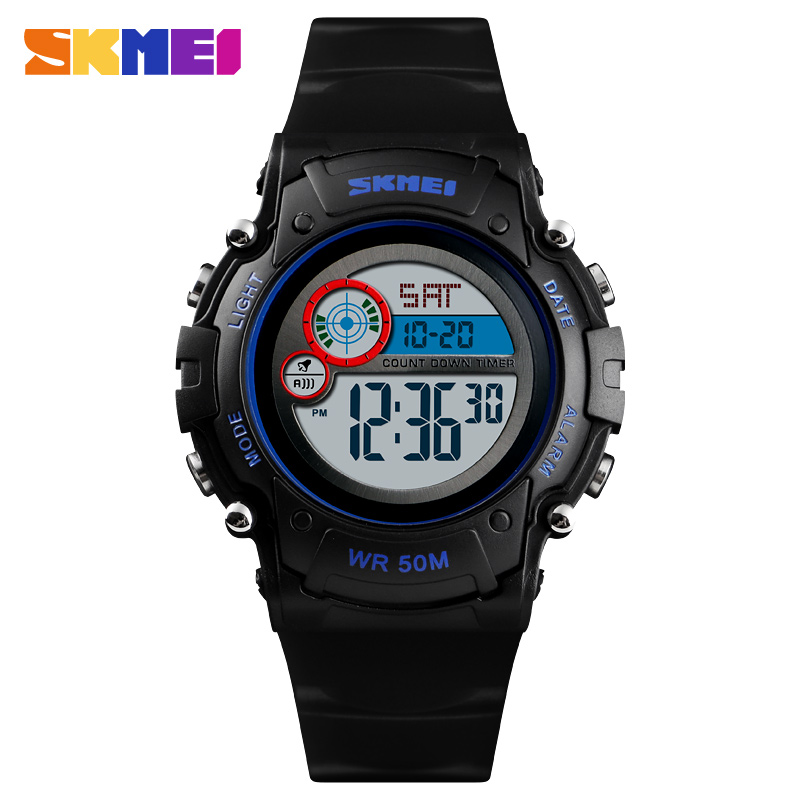 Cooperative Skmei New Kids Watch Fashion Waterproof Plastic Case Alarm Wristwatch Boys Girls Digital Children Watches Reloj Clients First Children's Watches