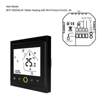 Wifi Thermostat With Touchscreen Lcd Display Weekly Programmable Energy Saving Smart Temperature Controller For Water Heating 3a