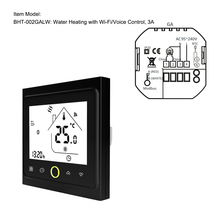 WiFi Thermostat with Touchscreen LCD Display Weekly Programmable Energy Saving Smart Temperature Controller for Water Heating 3A hy02b05 connect wifi enabled touchscreen programmable thermostat ac220v wifi temperature regulator for boilers