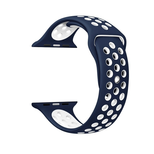 Silicone strap band for Nike apple watch series 4/3/2/1 42mm 38mm rubber wrist bracelet adapter iwatch 40/44mm Apple watch band 2