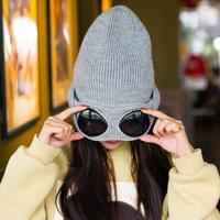 Donne Berretti Antivento Occhiali Cappello di Lana di Modo di Inverno  Gorros Tappo di Fissaggio Impilabile 5fce000bf592