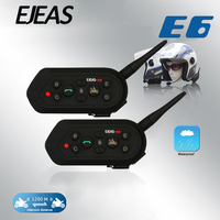 EJEAS E6 2pcs Bluetooth 3 0 Motorcycle Helmet Intercom 1200M Wireless Intercomunicador Helmet Interphone Headsets With