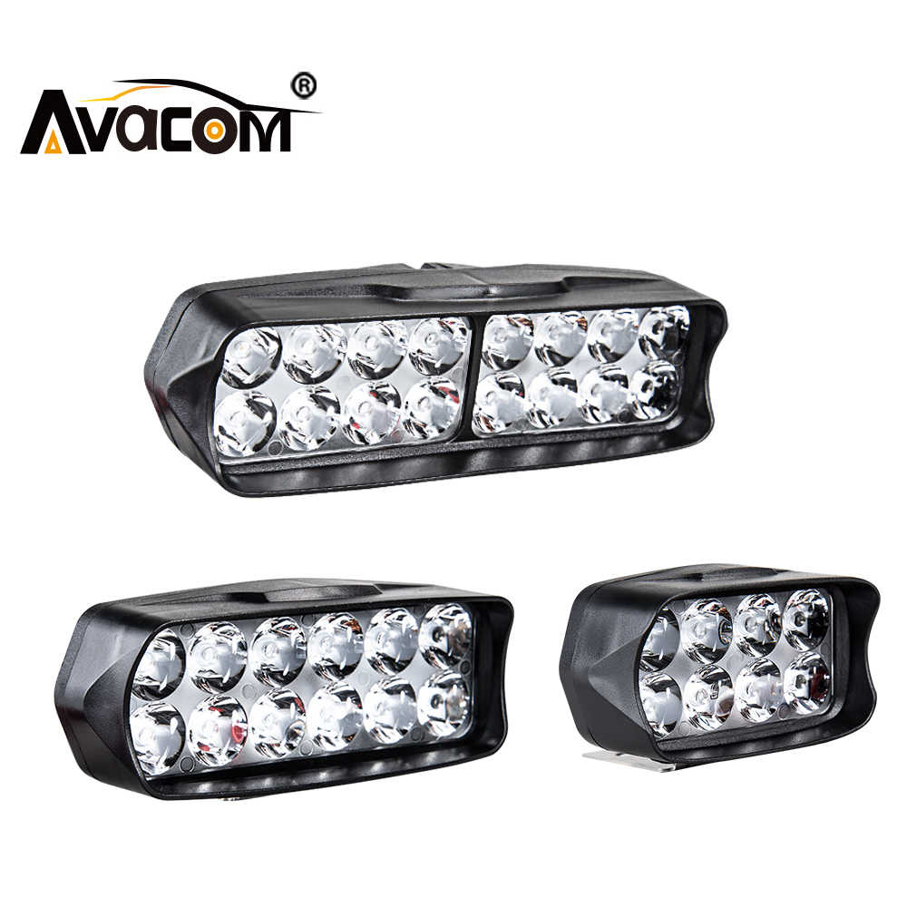 AVACOM LED Work Bar Light Headlight for Car Motorcycle Tractor Boat Off Road 4WD 4x4 Truck SUV ATV Fog Lights Lamp 12V 24V 20W