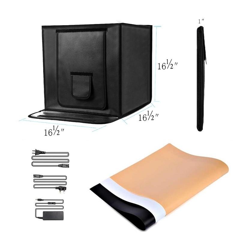 SAMTIAN 40 * 40cm LED-fotostudio Softbox Folding Fotografering - Kamera och foto - Foto 3