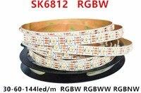 Лучшая цена 1 м 5 м прибор приемно-SK6812 RGBW Светодиодная лента гПа 4 цвета в 1 светодиод Водонепроницаемый 30/60/144 светодиодов/pixles/m 5V подобным WS2812B