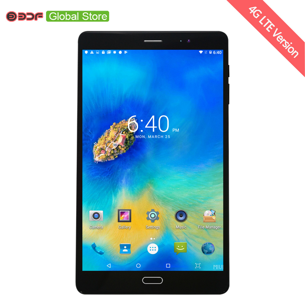 3G 4G LTE SIM Card Mobile Cell Phone Call 8 Inch Android 7.0 Tablet Pc 8 CPU 4GB+64GB 5MP+12MP Camera 1920*1200 IPS LCD Display