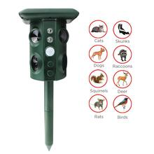 Garden Pest Control Supply Solar Power Acoustic Wave Vibration Animal Bird Snake Repeller With 4 Loud Speakers & Flashing Light