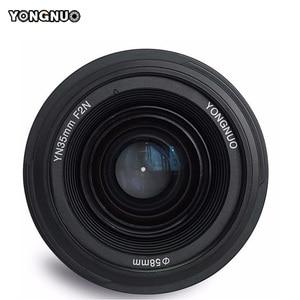 Image 2 - YONGNUO YN35mm العدسات F2.0 AF/MF الثابتة التركيز F1.8 عدسات لكاميرات كانون نيكون D800 D300 D700 D3200 D3300 D5100 D5200 ل DLSR كاميرا