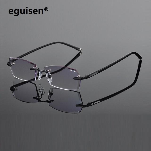 688372928c 41-17-140 Spectacle assembling TR alloy gradient color MR-8 lenses women  female rimless men myopia Finished eyeglasses lentes