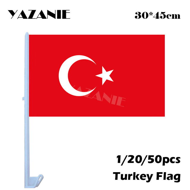 Yazanie 30 45cm 1 20 50pcs Small Turkey Window Car Flags And Banners