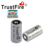 4pcs/lot High Capacity Trustfire IMR 18350 800mAh 3.7V Lithium Battery Rechargeable Batteries