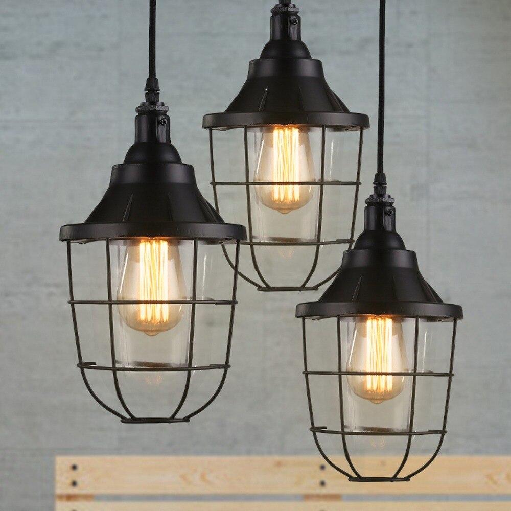 Creative industrial lamps - New Loft Retro Industrial Light Vintage Balcony Nordic Creative Bedroom Restaurant Dining Table Single Head