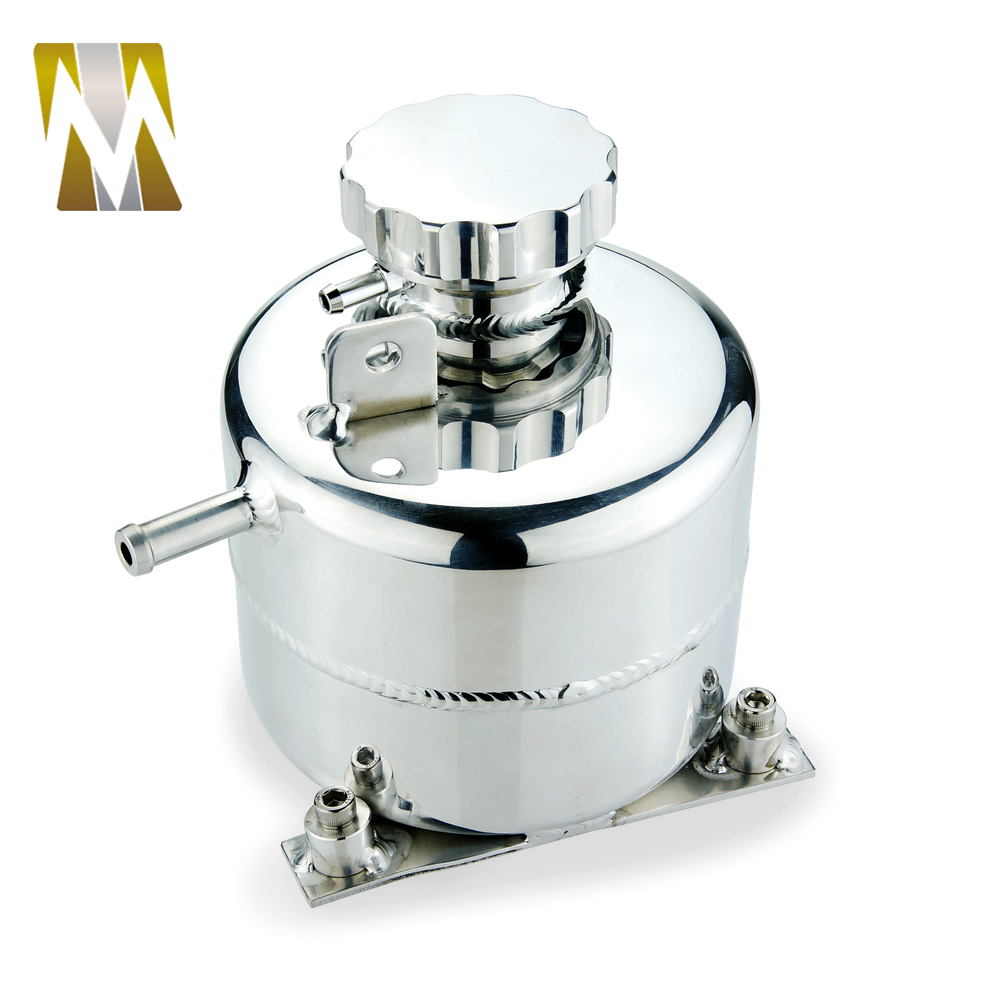 Alloy Coolant Water Overflow Expansion Tank w// Billet Cap Mini Cooper Polished