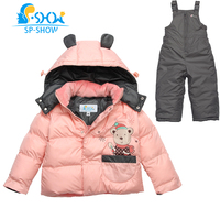 2019 SP SHOW бренд дети зима осень Детская Верхняя одежда куртка с капюшоном комплекты одежды для мальчиков и девочек пуховый костюм и парки 01