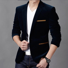 Men's Fashion Velvet Blazer (3 Colors)