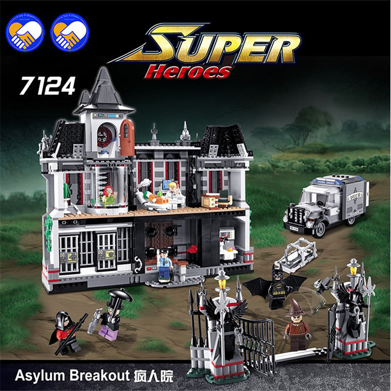 Un jouet un rêve nouveau décool 7124 véritable série Marvel Batman film Arkham asile blocs de construction briques jouets avec lustration 07055