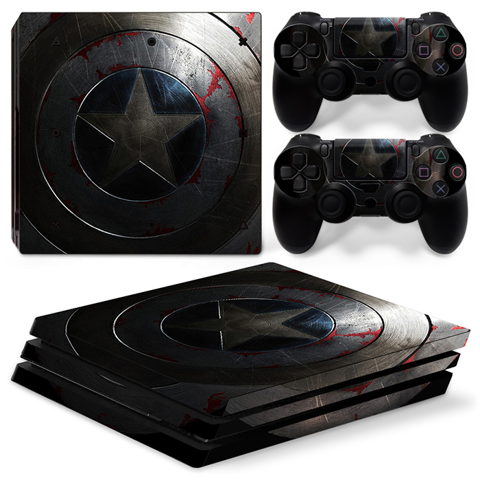 free drop shipping for ps4 pro console and two controller skin sticker game lovers with cheap price #TN-P4Pro-0338