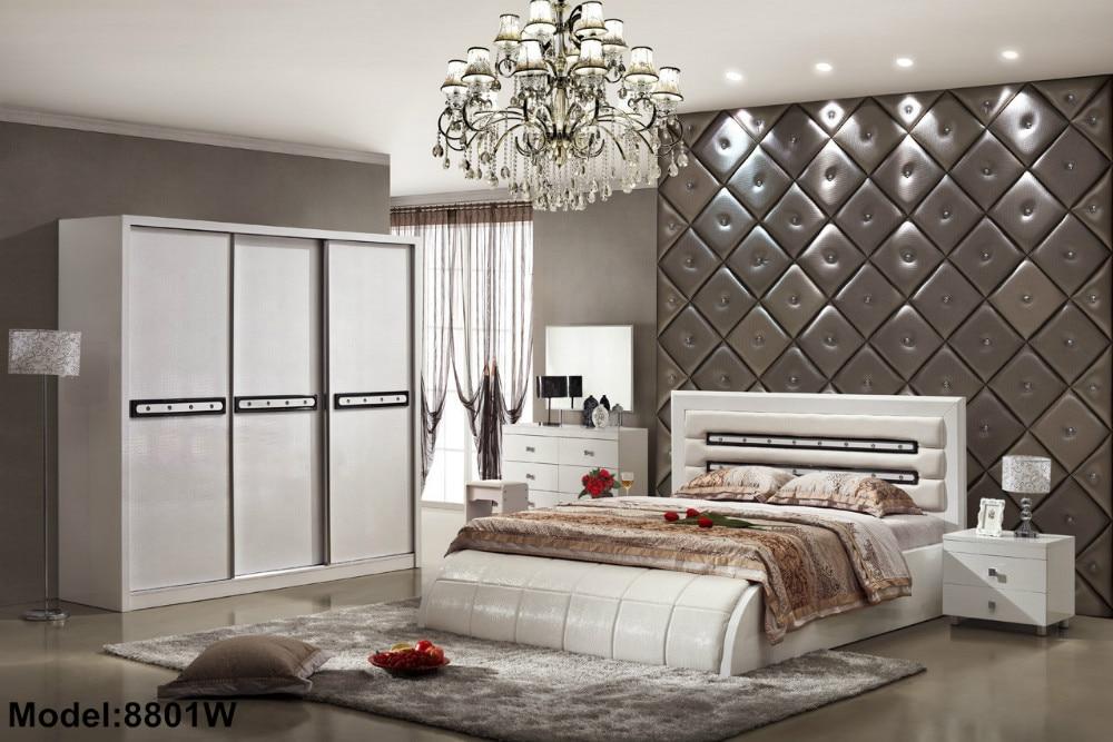 Para Quarto Quarto Nightstand Bed Room Furniture Set Rushed Wooden Modern Style New Arrive Hot Sale Design Bedroom Sets
