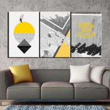 3 pieces Poster canvas painting Abstract geometry wall picture art print canvas posters wall art Painting home decor art print цена