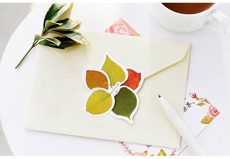 Купить с кэшбэком 46PCS/PACK Kawaii Cute Leaf Plant Sticker Scrapbooking Stickers Marker Diary Decorate School Stationery Bullet Journal sl1711