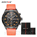 New Sport Watches for Men Leather Watches Christmas Gifts Watch For Boys Ristos 93008 Men Quartz Wristwatch Relogio Masculino