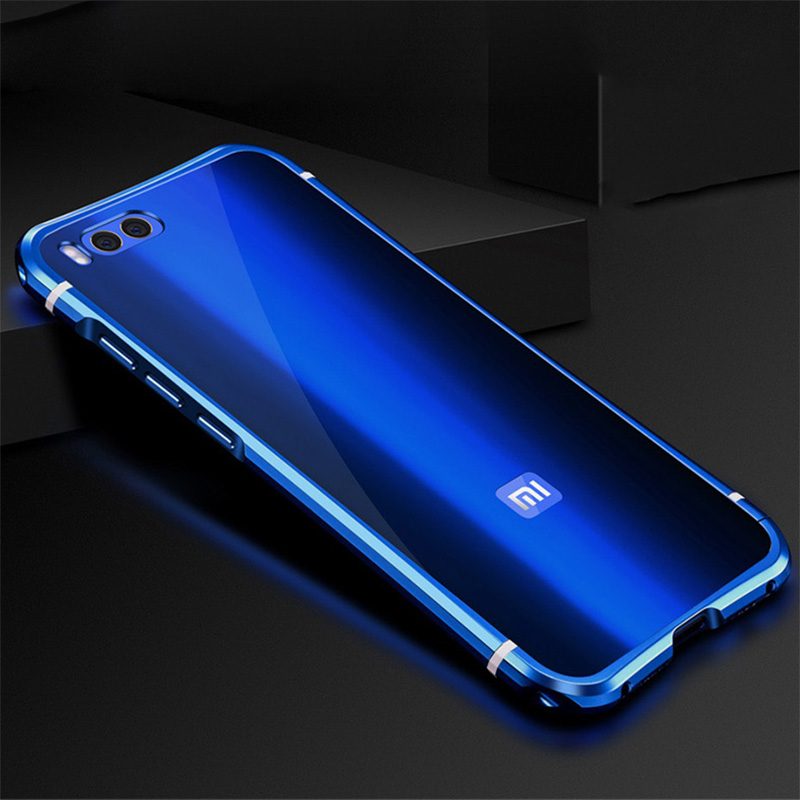 Xiaomi Mi6 Mi 6 case Aluminum alloy metal frame + Acrylic back cover for Xiaomi Mi6 cases