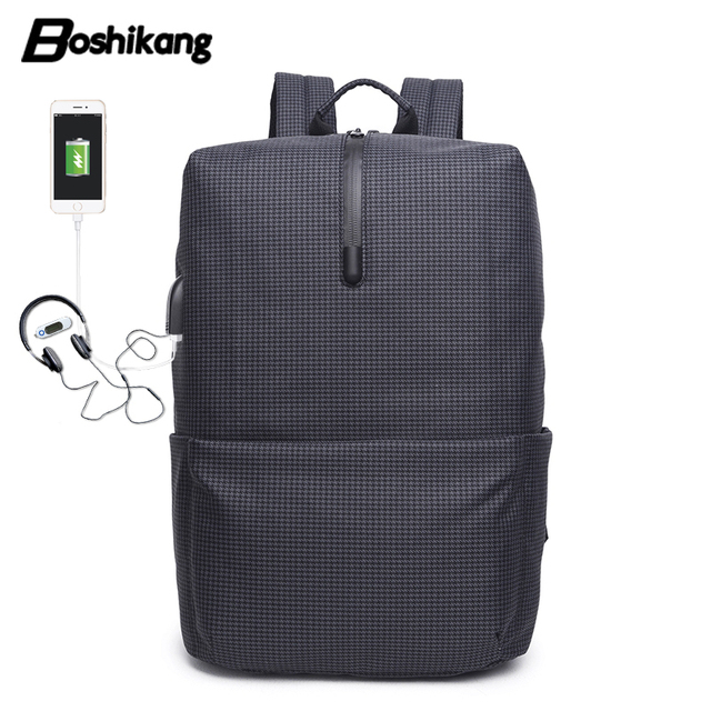 7282f573c5ac Boshikang Casual Backpack Teenager USB Charging School Bag College Student Trendy  Men Bagpack Laptop Bag New Travel Backpack Men