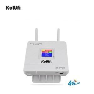 Image 4 - KuWFi 300Mbps kablosuz yönlendirici 4G Wifi Wifi SIM kartlı Router yuvası ve RJ45 Port çift harici antenler ev için