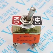 5pcs E-TEN1221 4 foot 2 file 1221 toggle switch, rocker switch power switch