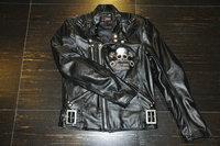 2017 Promotion New Men Motocross Body Armor Uglybros Motorcycle Leather Jacket Vintage Skeleton / Male Female Slim Size S 2xl
