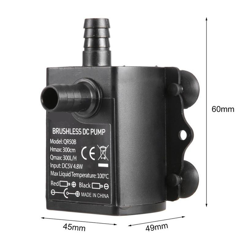 Image 3 - Outdoor Fountain Water USB Pump with LED Light Submersible Pump for Aquarium Fish Tank Pond Hydroponics-in Fountains & Bird Baths from Home & Garden