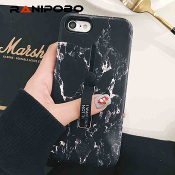 For iphone 6 6s 78 PLUS X Fashion Marble Soft silicon Ring Phone Case For iphone x Case Hide Stand Holder Cover For iphone 6s embroidery