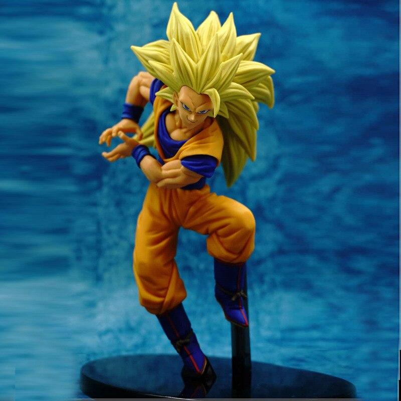 Anime Dragon Ball Z Figure Super Saiyan 3 SCultures BIG Son Goku PVC Action Figure Collection Model Kids Toys Doll 18cm крчок bemeta 104106062