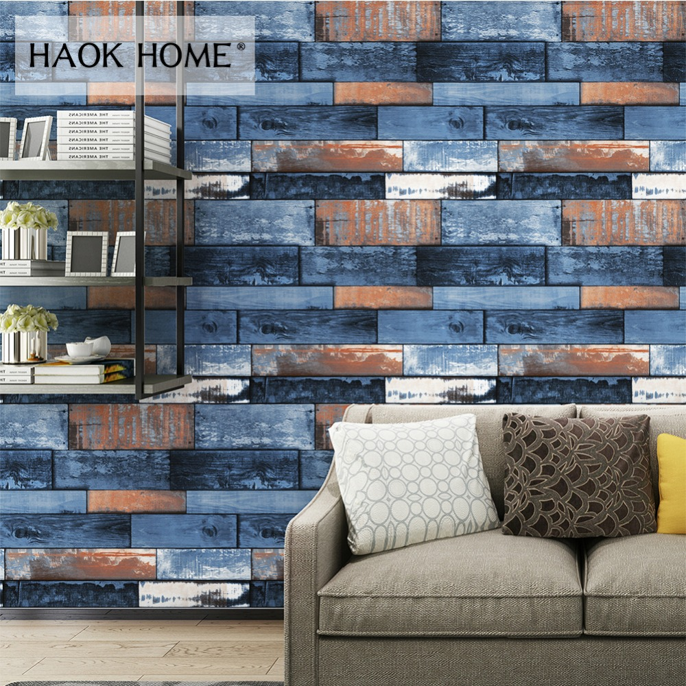 HaokHome Wood Plank Wallpaper For Walls 3D 0.53m*10m PVC Modern Contact paper Pink Wall Paper for Living room Bedroom Decor modern style 3d shiny gold foil mosaic lattice wallpaper for bedroom living room decor pvc vinyl waterproof ceiling wall paper