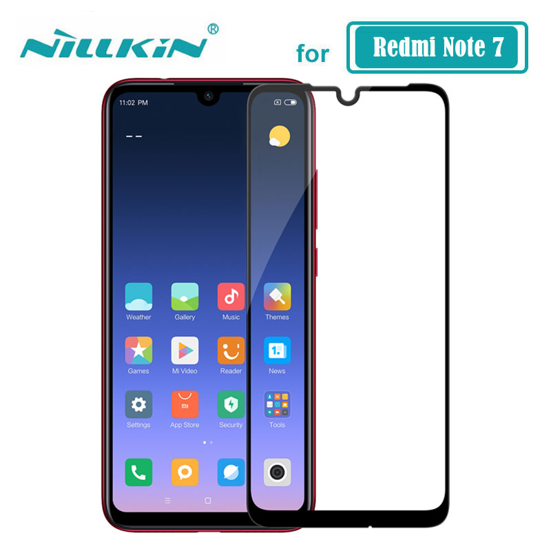 Redmi Note 7 Glass Nillkin CP+ Full Glue Coverage Screen Protector Tempered Glass For Xiaomi Redmi Note 7 Pro 7S